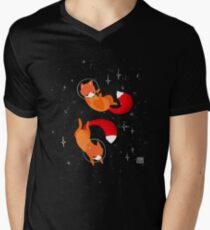 Space Foxes Men's V-Neck T-Shirt