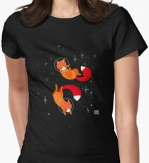 Space Foxes Women's Fitted T-Shirt