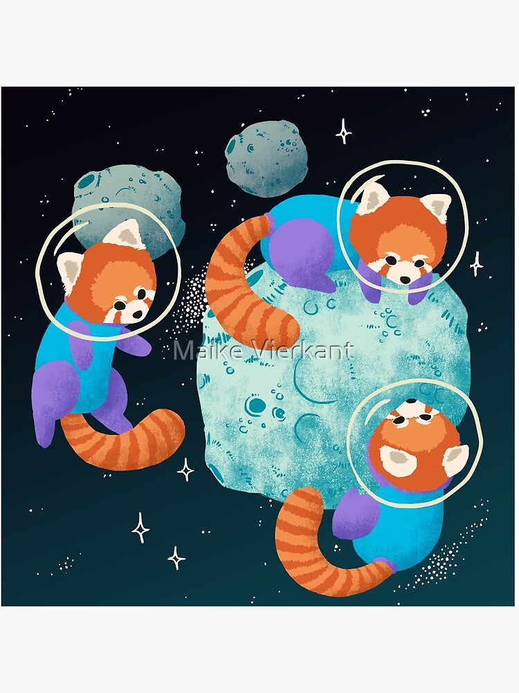 Red Space Pandas by Vierkant