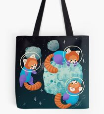 Rote Space Pandas Tote Bag