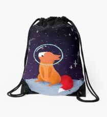 Somewhere Out There Drawstring Bag