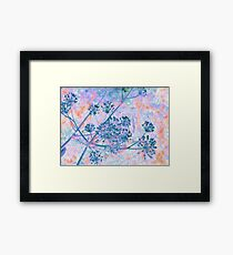 Bright Blue Berries-Available As Art Prints-Mugs,Cases,Duvets,T Shirts,Stickers,etc Framed Print