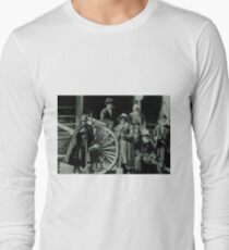 people, group, adult, military, engraving, horizontal, pattern, men, clothing, large group of people, crowd, only men, adults only Long Sleeve T-Shirt