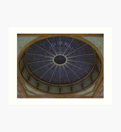 Ceiling Roundel (Waverley Railway Station, Edinburgh) Art Print