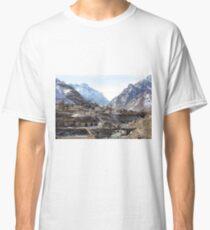 #Mountains, #road, #houses, #river, #mountain #village #Tawlula  #Karachay #Balkar #Къарачай #Малкъар #Qaraçay #Malqar #Tawlu #Karachays #Balkars  Classic T-Shirt