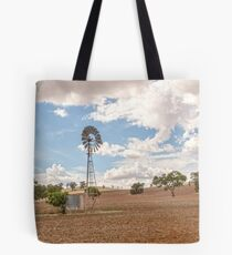 Windmill...Ploughed Paddocks... Tote Bag
