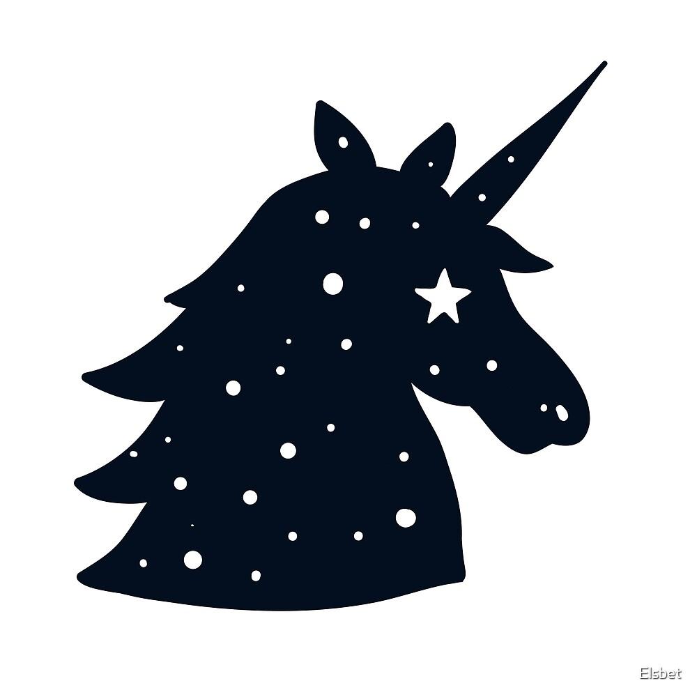 Dark blue Unicorn by Elsbet