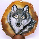 grey wolf by Leanne Inwood