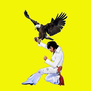 Elvis Hunts with an Eagle by zandozan