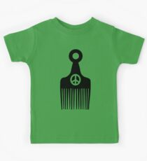 Afro Hair Peace Kids Tee