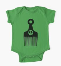 Afro Hair Peace One Piece - Short Sleeve