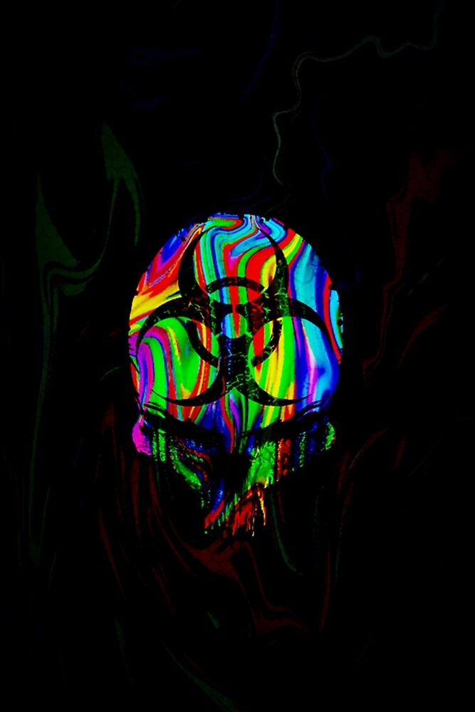 Quot Rainbow Colored Skull Poster Amp Prints Quot By Jacko360