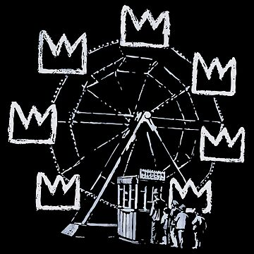 Ferris Wheel, Banksy Pays Tribute To Jean-Michel Basquiat, Artwork, Tshirts, Posters, Bags, Prints, Men, Women, Youth by clothorama