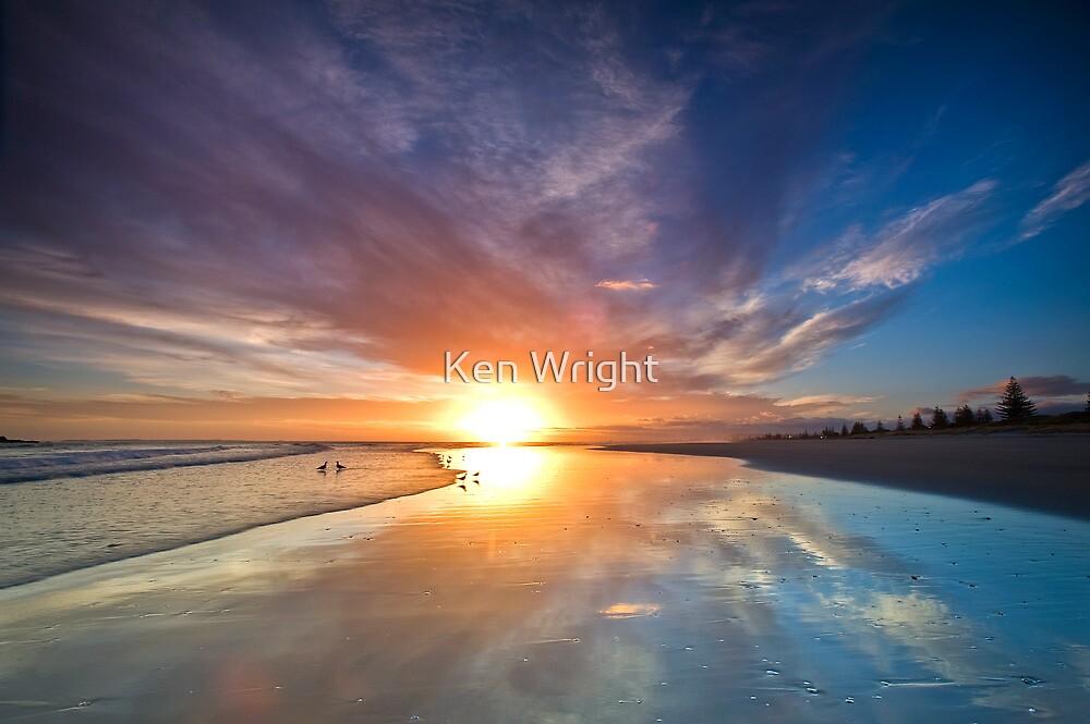 Dawn feeder burn out by Ken Wright