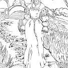 Ann Boleyn Line Art by SonneFaunArt