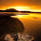 Rocks in Front, Sun in Back-Second Look by Bob Larson