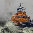 Lifeboat in stormy seas - Donaghadee by TomSmithPhotos
