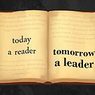 Today A Reader Tomorrow A Leader Book Motivation by SuccessHunters