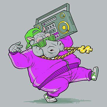 Hip Hop Hippo by tobiasfonseca