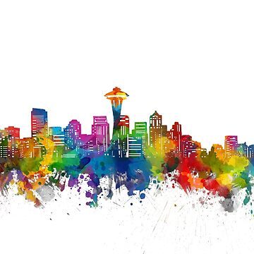 seattle skyline by BekimART