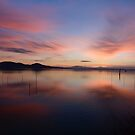 Sunset over Lago Trasimeno, Umbria, Italy by Andrew Jones