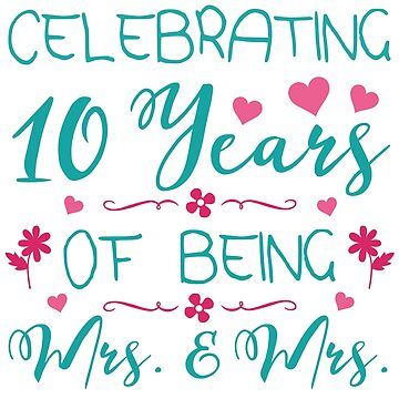 10th Lesbian Wedding Anniversary by thepixelgarden