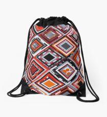 Test Pattern (Orange) Drawstring Bag