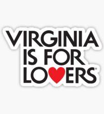 Offizielles Virginia ist für Liebhaber-Logo Sticker