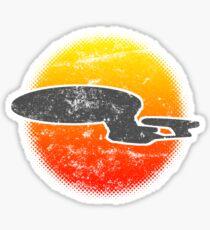 Galaxy D Class Starship 1701 - Light Sticker