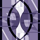 Cosmic Collision Purple-Grey Abstract by Jenny Meehan by Jenny Meehan