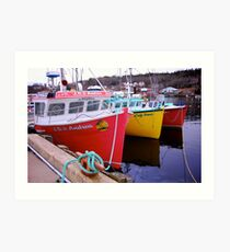 Fishing Harbour ~ Nova Scotia Canada Art Print