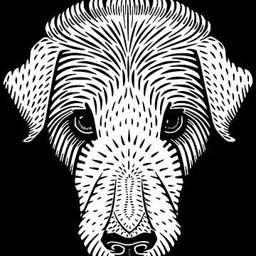 Vintage Puppy Glance by realmatdesign