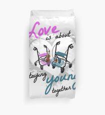Wheeled Walker Valentine's Day silver wedding gift idea Duvet Cover