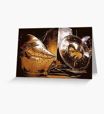 Shiny Knight Armour! Greeting Card