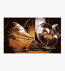 Shiny Knight Armour! Photographic Print
