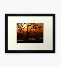 Romney Marsh Sunset Framed Print