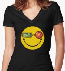 Transmetro trippy - Comic mashup Women's Fitted V-Neck T-Shirt