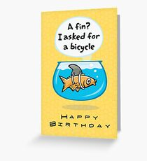 Fish Bicycle Birthday Greeting Card