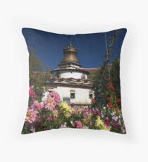 Kumbum Stupa Throw Pillow