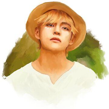 BTS Taehyung Hearts Retrato de imgoodimdone