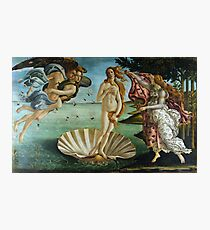 Die Geburt der Venus von Sandro Botticelli (1486) Fotodruck