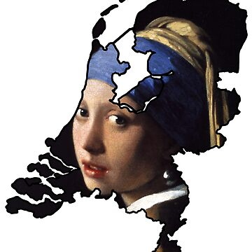 Vermeer Girl with a Pearl Earring Netherlands (Famous Dutch Painting) by From-Now-On