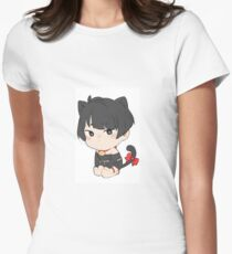 Katzenjunge Tailliertes T-Shirt für Frauen