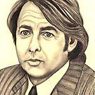 Jonathan Ross celebrity portrait by Margaret Sanderson
