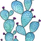 Prickly Pear Desert Cactus Sticker by christinemay