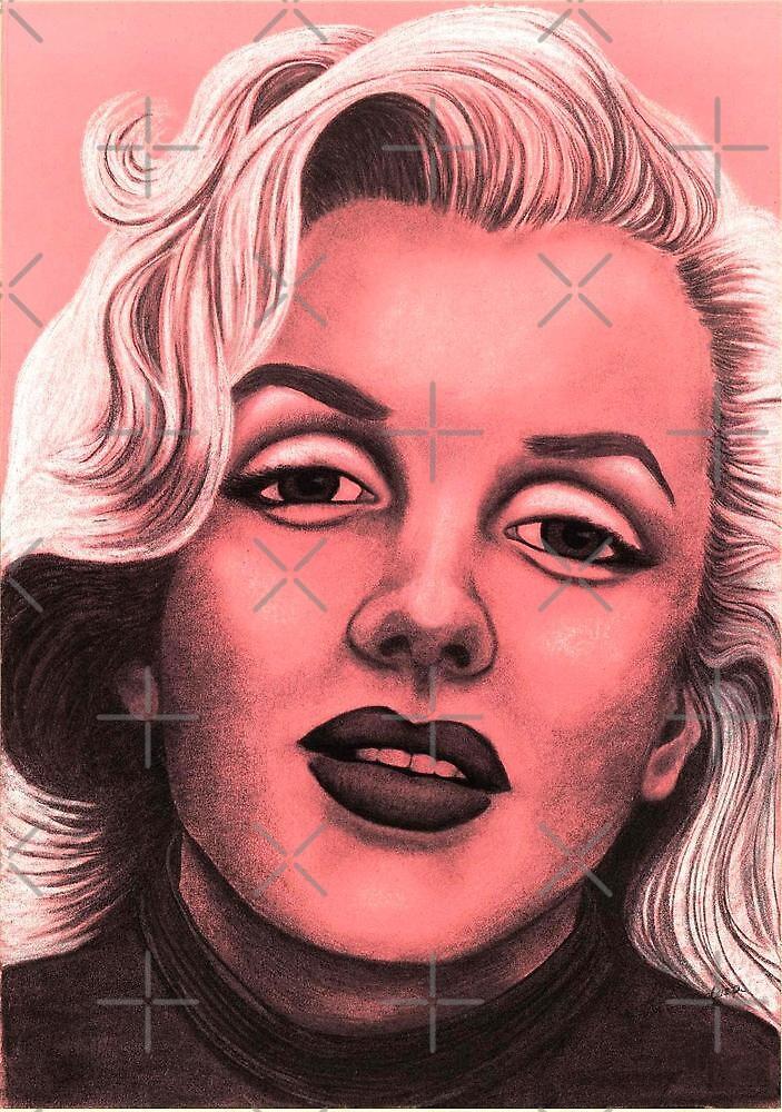 Marilyn Monroe celebrity portrait by Margaret Sanderson