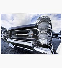 Classic car head lamp Poster
