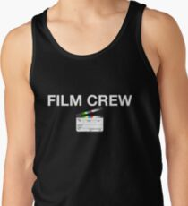 Film Crew with clapperboard (white lettering) Men's Tank Top