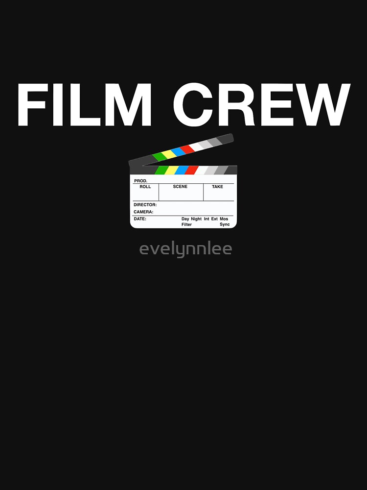 Film Crew with clapperboard (white lettering) by evelynnlee