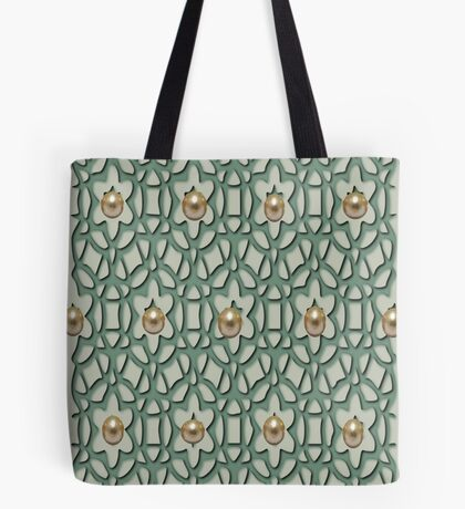 Pattern with pearls (4902 Views) Tote Bag